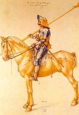 Albrecht Durer Rider in the Armor Art Print Poster