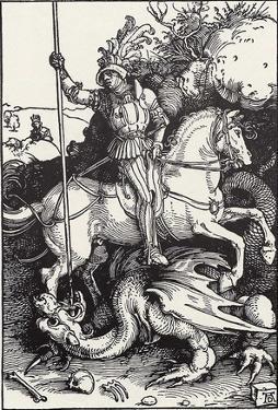 Albrecht Durer (St. George killing the dragon) Art Poster Print