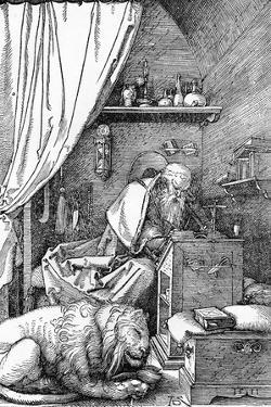 'St. Jerome in His Cell', 1511, (1906) by Albrecht Durer