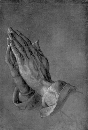 """Albrecht Durer (Study on the """"Heller-Altar"""": hands of an apostle) Art Poster Print"""