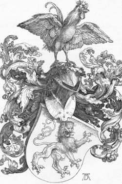'The Coat of Arms with a Lion and a Cock', c1502-1503, (1906) by Albrecht Durer