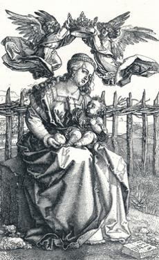 'The Virgin and Child crowned by two Angels', 1518, (1906) by Albrecht Durer
