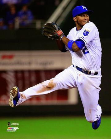 Alcides Escobar Game 2 of the 2014 World Series Action