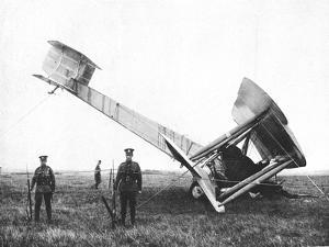 Alcock and Brown's Aeroplane after Completing the First Non-Stop Transatlantic Flight, 1919