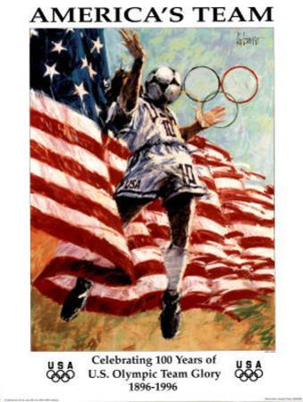 America's Team Celebrating 100 Years Olympics by Aldo Luongo