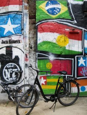 Graffiti and Bicycles at Arthouse Tacheles, Orianenburgerstrasse by Aldo Pavan