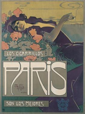Los Cigarillos Paris, 1901 by Aleardo Villa