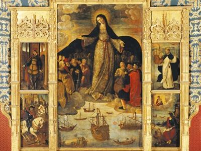 Spain, Seville, Alcazar Palace, Virgin of Seafarers' Altarpiece, 1535
