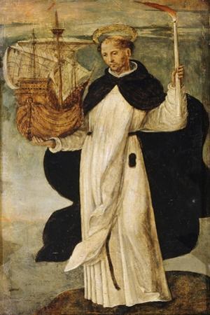 St. Telmo, Detail from Virgin of Navigators, 1531-1536