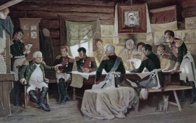 General Kutuzov with Men During Napoleonic War