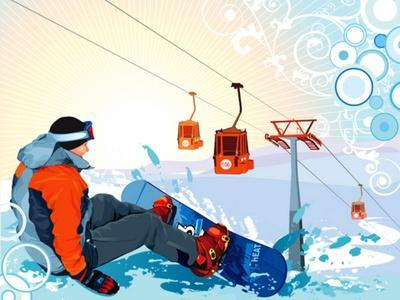 A Snowboarder Sitting On Snow Grief