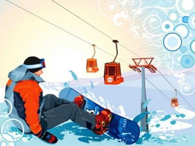 A Snowboarder Sitting On Snow Grief by Aleksey Vl B.