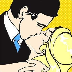 Kissing Couple by Alena Kozlova