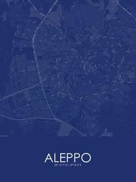 Aleppo, Syrian Arab Republic (Syria) Blue Map