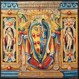 Tapestry with the Medici-Lorena Coat of Arms by Alessandro Allori