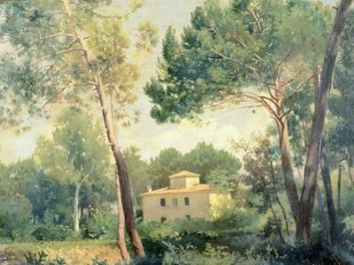 Landscape with Farmhouse by Alessandro Franchi
