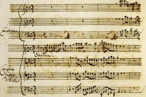 First Page of Cantata for Holy Christmas by Alessandro Stradella