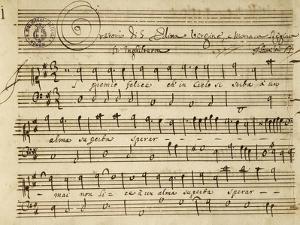 Handwritten Score for the Oratorio of Virgin Saint Edith by Alessandro Stradella