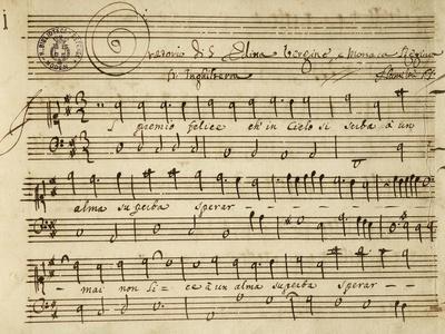Handwritten Score for the Oratorio of Virgin Saint Edith
