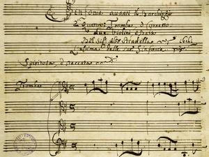 Sheet Music of Il Barcheggio, Symphony by Alessandro Stradella