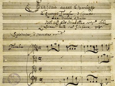 Sheet Music of Il Barcheggio, Symphony