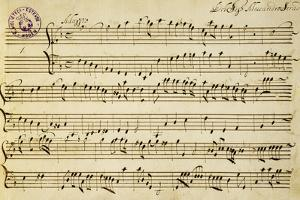 Sheet Music of Six Symphonies by Alessandro Stradella
