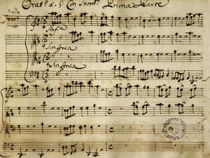 Sheet Music of the Oratorio of Saint John the Baptist by Alessandro Stradella