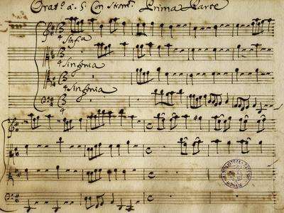 Sheet Music of the Oratorio of Saint John the Baptist