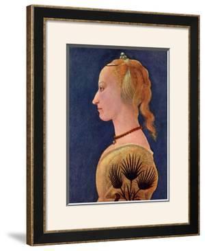 Portrait einer Dame in Gelb by Alesso Baldovinetti