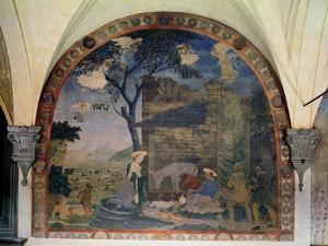 The Nativity, 1460-62 by Alesso Baldovinetti