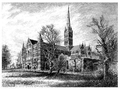 Salisbury Cathedral, from the South West, 1895 by Alex Ansted