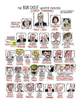 """The Bob Dole White-House (early thinking)"" - New Yorker Cartoon by Alex Beam"