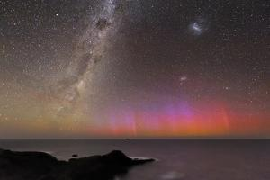Aurora Australis And Milky Way by Alex Cherney