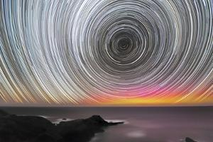 Aurora Australis And Star Trails by Alex Cherney