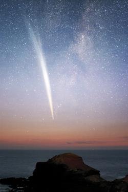 Comet Lovejoy At Dawn by Alex Cherney