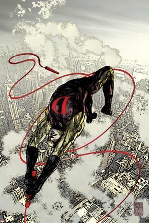 Daredevil No.66 Cover: Daredevil Fighting and Flying