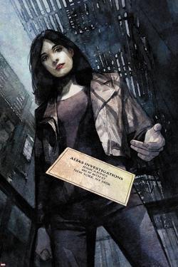 Jessica Jones #1 Variant Cover Art Featuring Jessica Jones by Alex Maleev