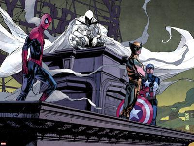 Moon Knight No.2: Spider-Man, Moon Knight, Wolverine, and Captain America by Alex Maleev