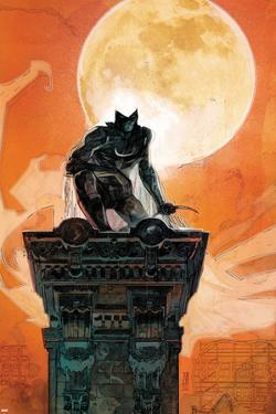 Moon Knight No.4 Cover: Moon Knight Crouching on a Column by Alex Maleev