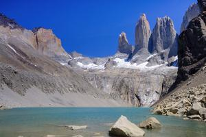 A glacial lake and the rock towers that give the Torres del Paine range its name, Torres del Paine by Alex Robinson