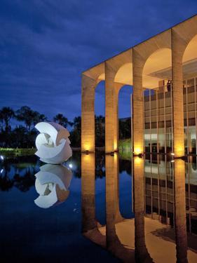 Brazil, Brasilia, Distrito Federal, Palacio De Itamaraty by Alex Robinson