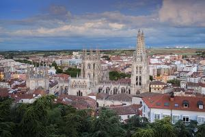City Showing the Gothic Cathedral, UNESCO World Heritage Site, Burgos, Castile and Leon, Spain by Alex Robinson