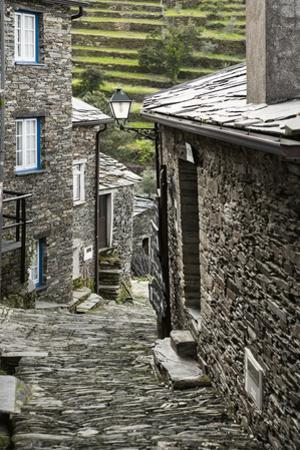 Cobbled Streets and Granite Houses in Medieval Village of Piodao in Serra Da Estrela Mountains by Alex Robinson