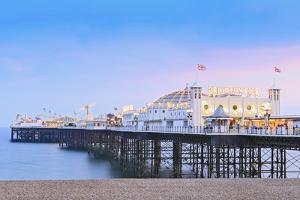 Europe, United Kingdom, England, East Sussex, Brighton and Hove, Brighton, Palace (Brighton) Pier by Alex Robinson