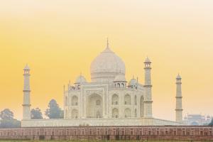 India, Uttar Pradesh, Agra, Taj Mahal in Golden Dawn Light by Alex Robinson