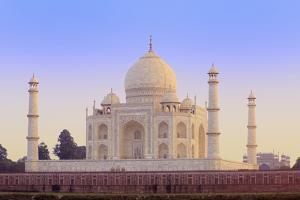 India, Uttar Pradesh, Agra, Taj Mahal in Rosy Dawn Light by Alex Robinson