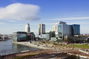Mediacityuk, the BBC Headquarters on the Banks of the Manchester Ship Canal in Salford and Trafford by Alex Robinson