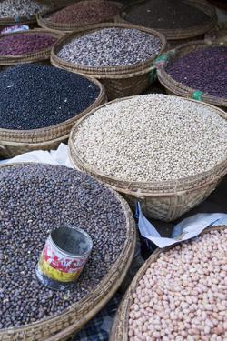 Pulses in the Market, Monywa, Sagaing, Myanmar, Southeast Asia by Alex Robinson