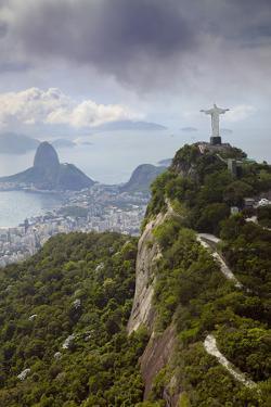 Rio De Janeiro Landscape Showing Corcovado, the Christ and the Sugar Loaf, Rio De Janeiro, Brazil by Alex Robinson