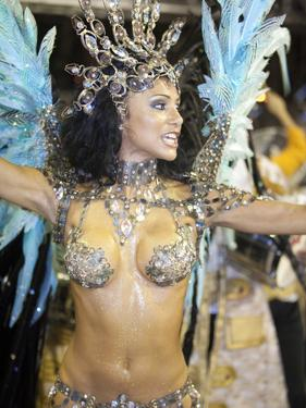 Rio De Janeiro, Rio De Janeiro City, Fabia Borges of the Imperio Da Tijuca Samba School at Carnival by Alex Robinson